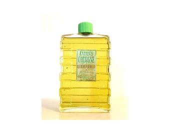 Antique 1930s Eaton's Spice 8 oz Cologne (237ml) Splash Vintage Art Deco Bottle PERFUME