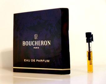 Vintage 1980s Boucheron by Boucheron 0.027 oz Eau de Parfum Sample Vial on Card PERFUME