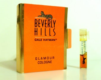 Vintage 1980s Gale Hayman Beverly Hills Glamour Cologne Sample Vial on Card PERFUME