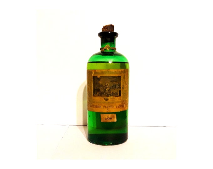 Antique Oil Lavender Fleurs Synthetic Lavande Givaudan Delawanna 8 oz Bottle 1907 Perfume Creation Essential Oil Perfumery Making