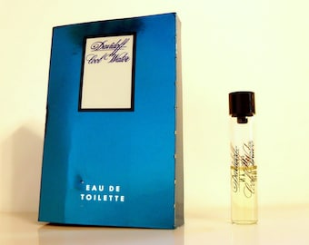 Vintage 1980s Cool Water by Davidoff 0.1 oz Eau de Toilette Sample Vial on Card COLOGNE