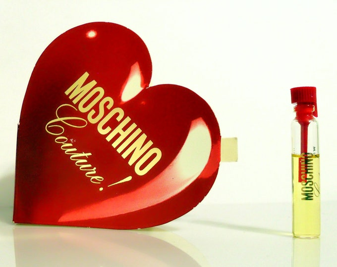 Vintage Moschino Couture by Moschino 0.05 oz Eau de Parfum Sample Vial on Card PERFUME