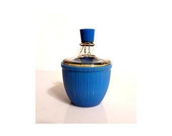 Vintage 1930s Oeillet Bleu Blue Carnation by Roger et Gallet 1 oz (30ml) Parfum Art Deco Blue Celluloid Demijohn Bottle Vintage Perfume
