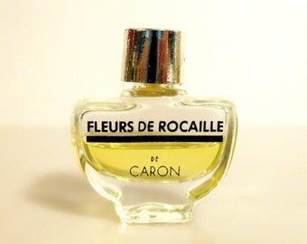 Vintage 1980s Fleurs de Rocaille by Caron 2 ml Micro Mini Perfume Miniature Parfum