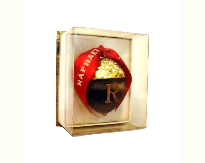 Featured listing image: Vintage Perfume 1950s Replique by Raphael 0.25 oz (7.5ml) Pure Parfum Splash and Box Lalique Acorn Flacon Sealed Original Formula