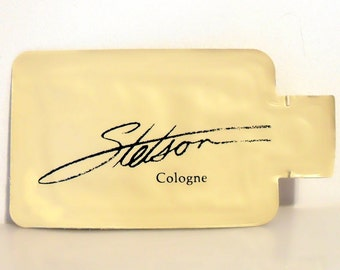 Vintage 1980s Stetson by Coty 0.035 oz Cologne Splash Sample Packet