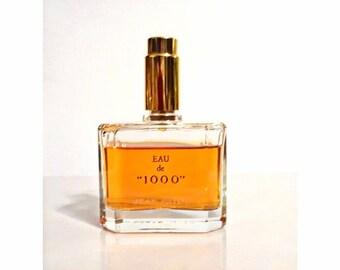 Vintage 1970s 1000 by Jean Patou 2 oz Eau de Parfum Spray Heavy Cut Crystal Perfume Bottle Original Formula