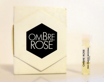 Vintage 1980s Ombre Rose by JC Brosseau 0.03 oz Sample Vial on Card PERFUME