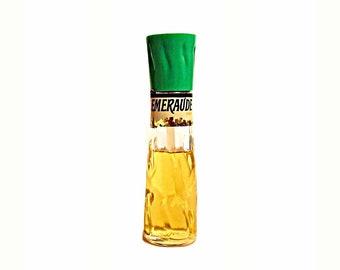 Vintage Perfume 1960s 1970s Emeraude by Coty 2 oz (60ml) Flacon Mist Cologne Classic Women's Fragrance