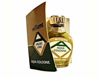 Vintage 1960s Aqua Frost Lime by Williams Mini Miniature Cologne Splash Bottle on Promotional Card