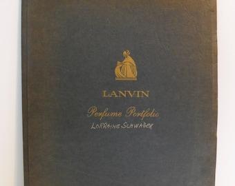Rare Vintage 1950s Lanvin Perfume Portfolio Beauty Advisor Employee Perfume Guide Fragrance Arpege My Sin Spanish Geranium