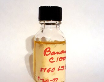 Vintage 1970s 12ml Banana PERFUME BASE Accord Creation Essential Oil Perfumery Making Use for Candles Bath Salts Fragrance Diffusers