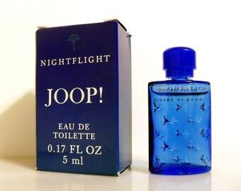 Vintage 1990s Joop Nightflight 0.17 oz Eau de Toilette Mini Miniature COLOGNE and Box