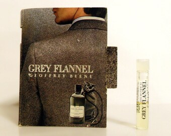 Vintage 1970s Grey Flannel by Geoffrey Beene 0.02 oz Cologne Splash Sample Vial on Card
