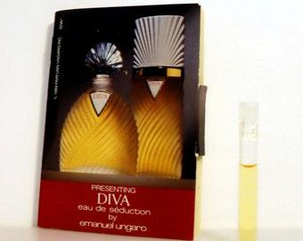 Vintage 1980s Diva by Ungaro Eau de Seduction 0.03 oz Eau de Toilette Splash Sample Vial PERFUME