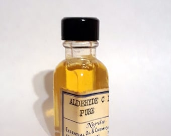 Vintage 1930s 5ml  Aldehyde C11 Pure Undecanal PERFUME BASE Soapy Floral Aldehyde Citrus Fragrance Creation Essential Oil Perfumery Making