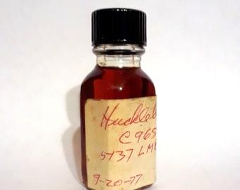 Vintage 1970s 12ml Huckleberry PERFUME BASE Accord Creation Essential Oil Perfumery Making