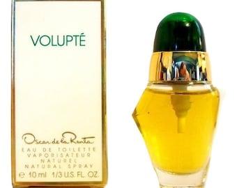 Vintage 1990s Volupte by Oscar de la Renta 1/3 oz Eau de Toilette Spray Mini Miniature PERFUME