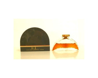 Vintage Perfume 1980s KL by Karl Lagerfeld 0.25 oz Pure Parfum Splash and Box Discontinued