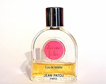 Vintage 1980s Divine Folie by Jean Patou 0.20 oz Eau de Toilette Mini Miniature DISCONTINUED PERFUME