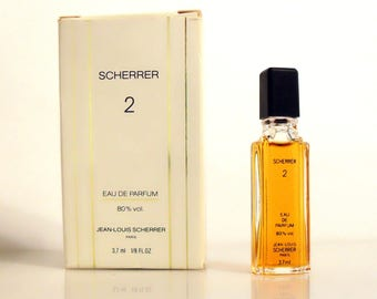 Vintage 1980s Scherrer 2 by Jean-Louis Scherrer 3.7 ml Eau de Parfum Miniature Mini Perfume and Box