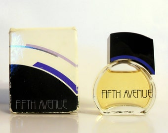Vintage 1980s Fifth Avenue by Avon 0.33 oz Eau de Cologne Mini Miniature Perfume and Box