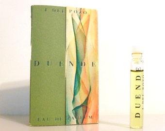Vintage 1990s Duende by J del Pozo 0.06 oz Eau de Parfum Sample Vial on Card PERFUME