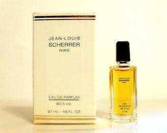 Vintage 1980s Jean-Louis Scherrer 3.7 ml Eau de Toilette Miniature Mini Perfume and Box