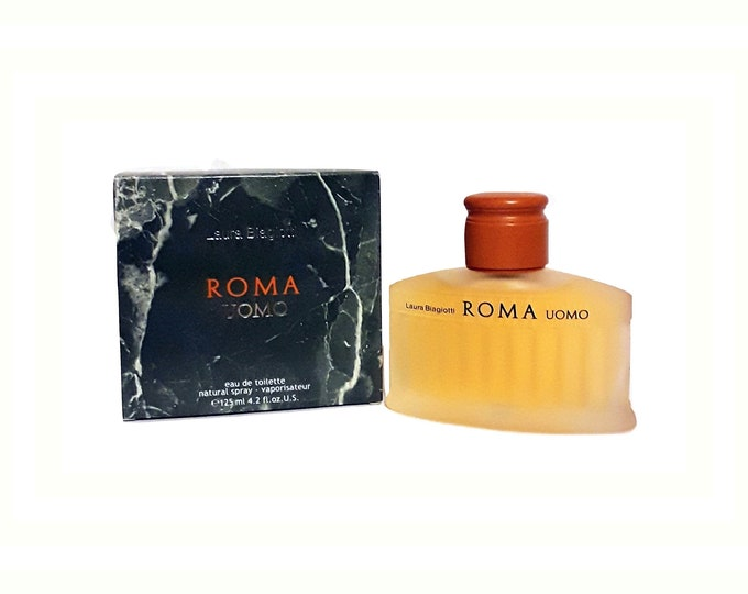 Vintage Roma Uomo by Laura Biagiotti 4.2 oz Eau de Toilette Spray 1990s COLOGNE