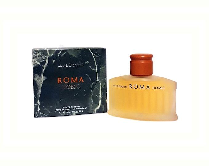 Vintage Roma Uomo by Laura Biagiotti 4.2 oz Eau de Toilette Spray 1990s COLOGNE