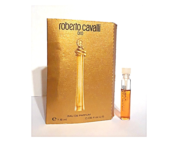 Oro Perfume by Roberto Cavalli 0.05 oz Eau de Parfum Sample Vial on Card