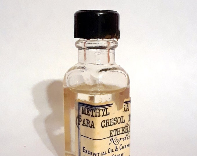 Vintage 1930s 5ml Methyl Para Cresol PERFUME BASE Sweet Anise Floral Powdery Essential Oil Perfumery Making