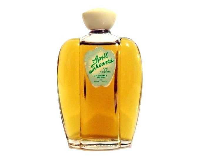 Vintage April Showers Perfume by Cheramy 1 oz (30ml) Eau de Toilette 1940s Splash