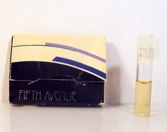 Vintage 1980s Fifth Avenue by Avon 0.02 oz Cologne Sample Vial on Card PERFUME
