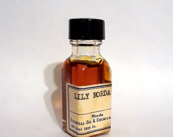 Vintage 1930s 5ml Lily Norda PERFUME BASE Fragrance Accord Mild Green Floral Essential Oil Perfumery Making