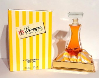 Vintage 1980s Giorgio Beverly Hills 1 oz Pure Parfum and Box PERFUME