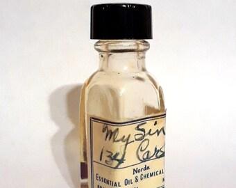 Vintage 1930s 5ml My Sin by Lanvin Type H. Carles PERFUME BASE Waxy Aldehydic Floral Essential Oil Perfumery