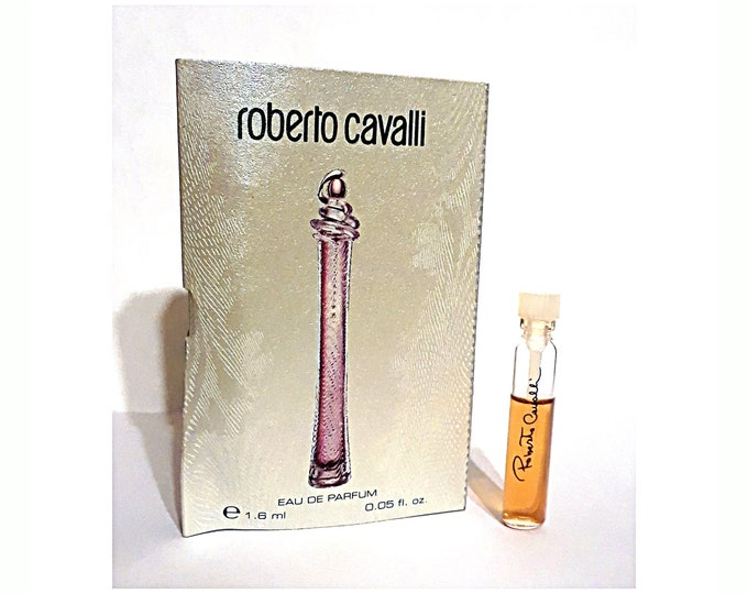 Original Roberto Cavalli Perfume by Roberto Cavalli 0.05 oz Eau de Parfum Sample Vial on Card