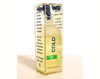 Vintage 1990s Benetton Cold 0.18 oz Eau de Toilette Mini Perfume Miniature and Box