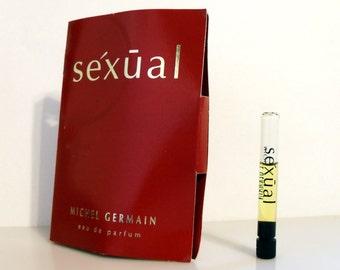 Vintage 1990s Sexual by Michel Germain Eau de Parfum Sample Vial on Card