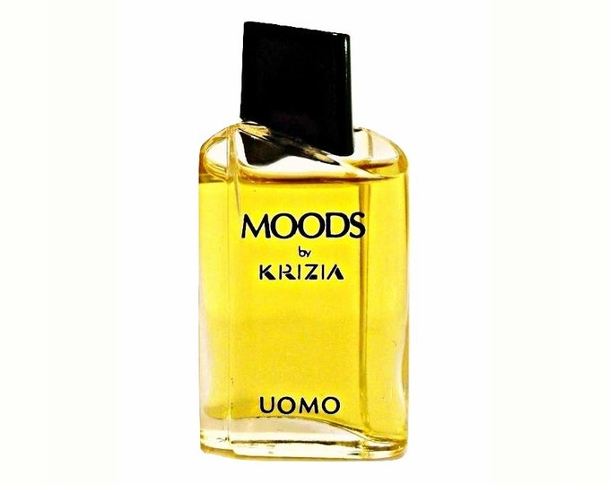 Vintage 1980s Moods Uomo by Krizia 0.20 oz Eau de Toilette Miniature Mini COLOGNE