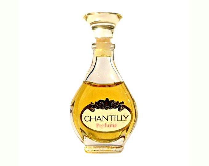 Vintage Chantilly by Dana Perfume 0.25 oz (7.5ml) Pure Parfum Mini Miniature Bottle 1980s Formula