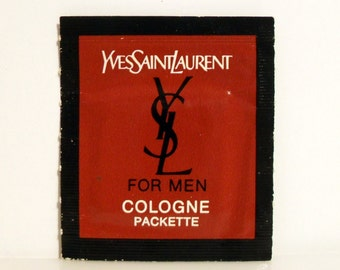 Vintage 1970s YSL Yves Saint Laurent for Men Cologne Towelette Sample Packette