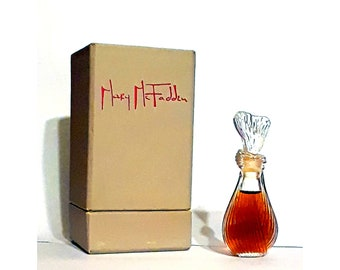 Vintage c1970s Mary McFadden by Mary McFadden 0.25 oz (7.5ml) Pure Parfum and Box DISCONTINUED PERFUME