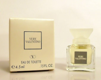 Vintage 1990s Very Valentino by Valentino 0.15 oz Eau de Parfum Mini Miniature and Box PERFUME