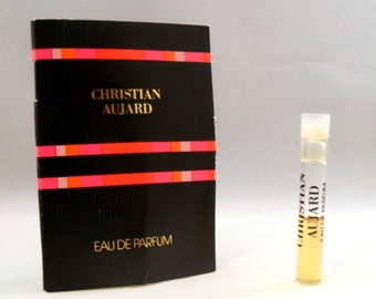 Vintage 1980s Christian Aujard by Parfums Christian Aujard 0.02 oz EDP Sample Vial on Card PERFUME
