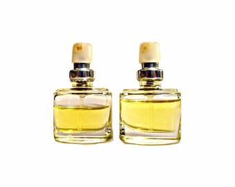 Pair Vintage 1990s Happy by Clinique 0.14 oz Parfum Mini Spray Purse Perfume Bottles