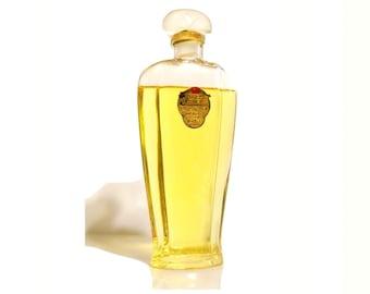Antique 1920s Three Flowers by Richard Hudnut 3 oz (89ml) Toilet Water Vintage American Glass Perfume Bottle