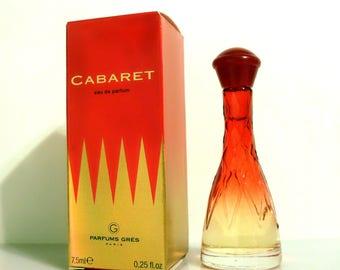 Vintage Cabaret by Gres 0.25 oz Eau de Parfum Mini Bottle with Box PERFUME