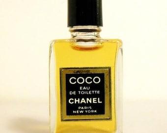 Vintage 1980s Coco by Chanel 0.13 oz Eau de Toilette Splash Mini Perfume Miniature